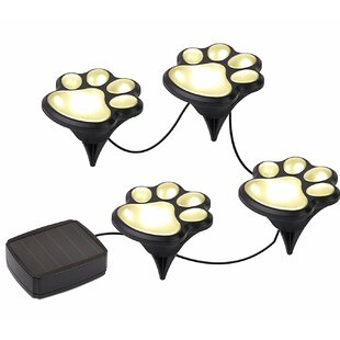 Meridian Point Paw Solar 4 Light Pathway Light (Set of 4)