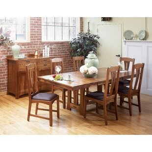 Lewistown Extendable Solid Wood Dining Table Loon Peak