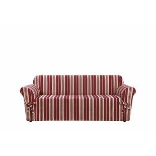 Sure Fit South Hampton Stripe Box Cushion Sofa Slipcover