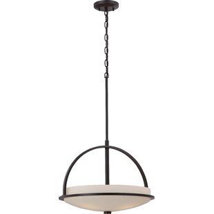 Collin 3-Light Geometric Chandelier by World Menagerie