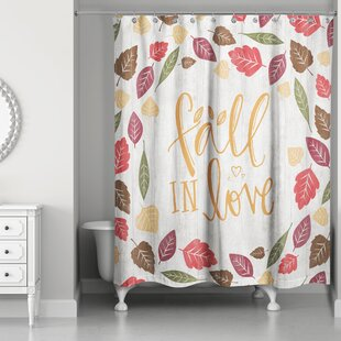 Comparison Kinley Fall in Love Shower Curtain By The Holiday Aisle