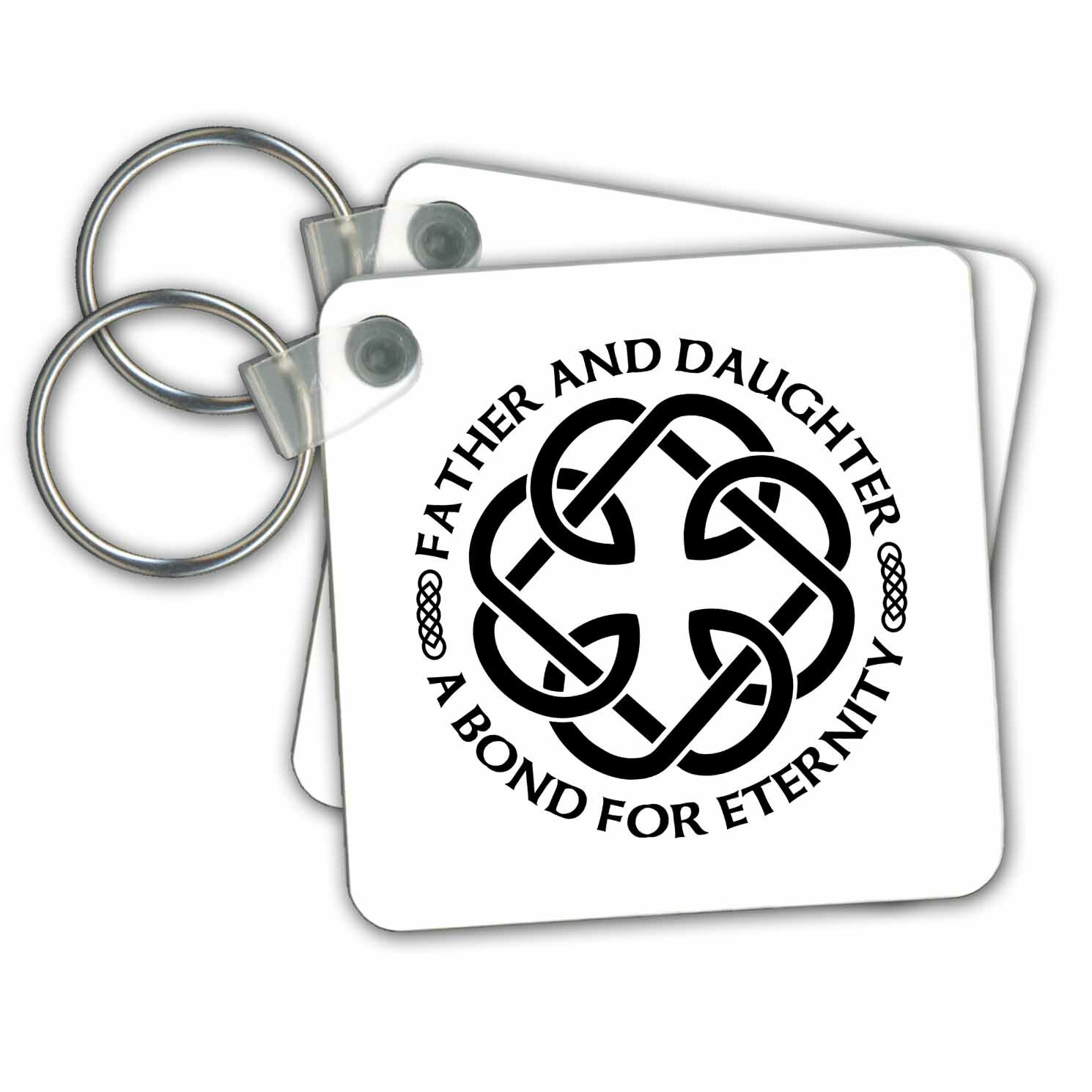3drose Celtic Fatherhood Knot Father And Daughter A Bond For Eternity Key Chain Wayfair