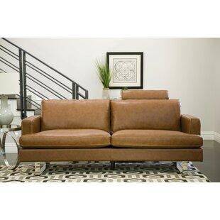 Brayden Studio Charles Leather Sofa