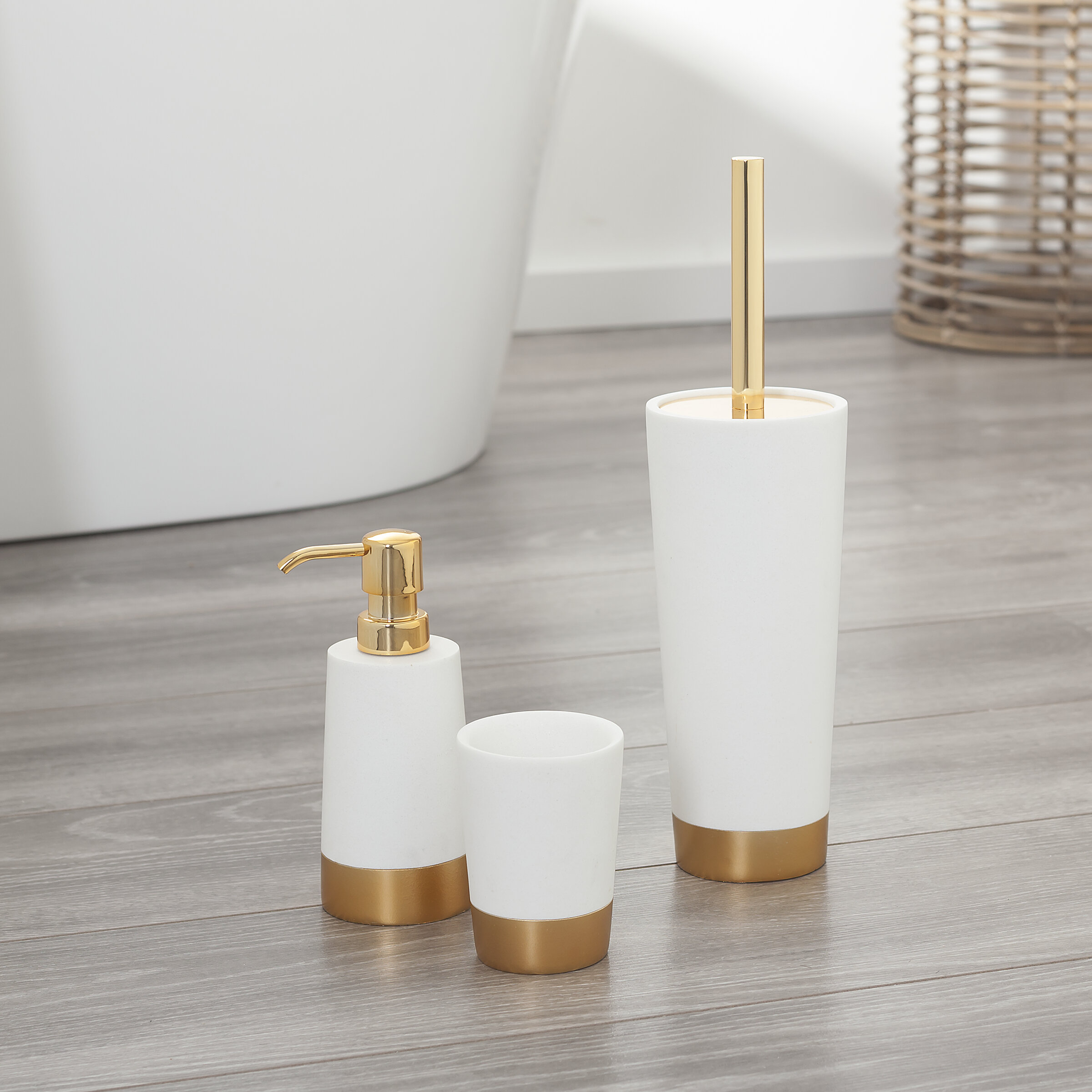 Glossy 5 Piece Bathroom Accessory Set