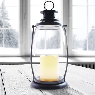 Hadreas 30cm Battery Powered Integrated LED Outdoor Lantern By Sol 72 Outdoor