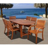 Troche International Home Outdoor 7 Piece Dining Set