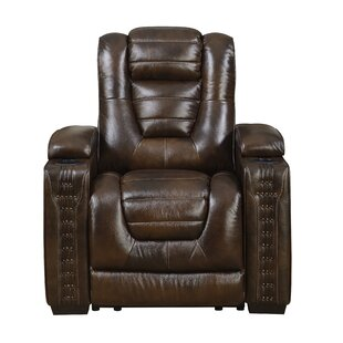 Barnhart Leather Power Recliner by Red Barrel Studio