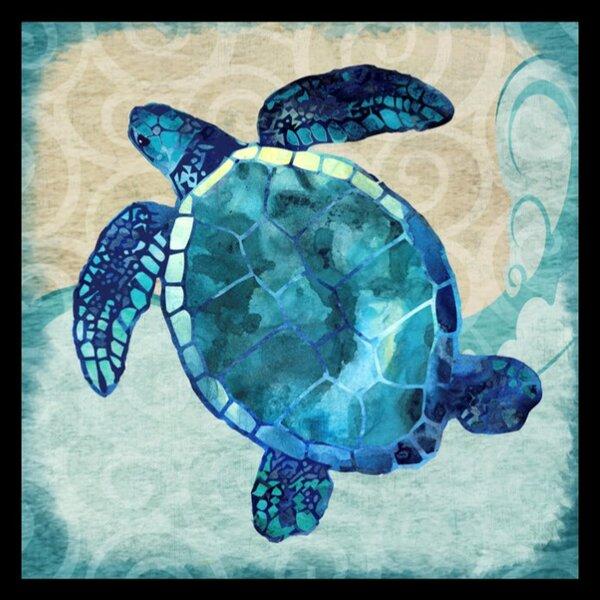 "Sea Turtle Cove Wall Mirror Coastal Nautical Stingray Fish Shell Beach 19/"""