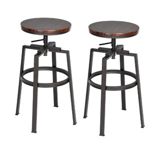 Silesia Height Adjustable Swivel Bar Stools (Set Of 2) By Borough Wharf
