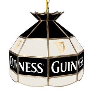 Trademark Global Guinness Stained Glass 1-Light Pool Table Lights Pendant