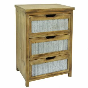 Arpita Wood Metal 3 Drawer Accent Chest by Gracie Oaks