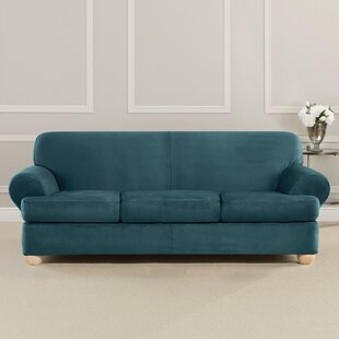 Ultimate Heavyweight Stretch Suede T-Cushion Sofa Slipcover by Sure Fit Coupon