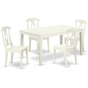 Lagarde 5 Piece Solid Wood Dining Set