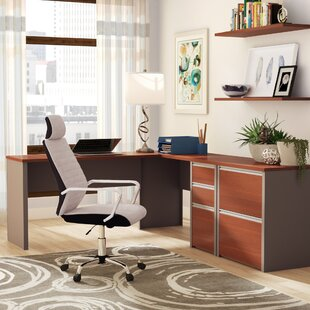 Aurea 2 Piece L-Shaped Desk Office Suite