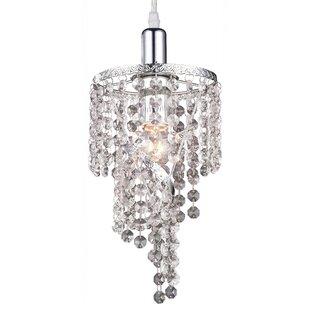 Krick 1-Light Crystal Pendant by House of Hampton