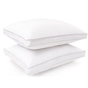 Helfer Superior Hypoallergenic Gusset Medium Polyester Bed Pillow (Set of 2)