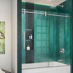 DreamLine Enigma-XO Sliding Frameless Shower Door with ClearMax™ Technology