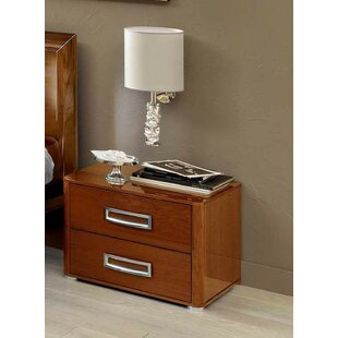 Best Reviews 2 Drawer Nightstand by Noci Design