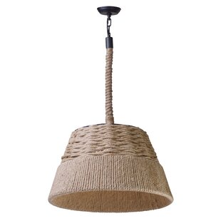 Ventana 1-Light Cone Pendant by Rosecliff Heights