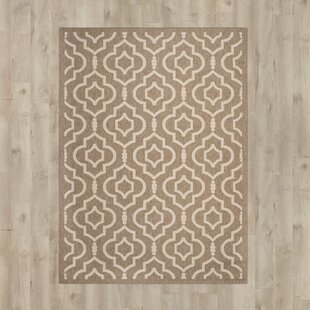 Mandel Hand Tufted Brown/Bone Indoor/Outdoor Rug By Bloomsbury Market