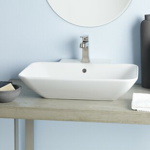 Looking for Element Ceramic Rectangular Vessel Bathroom Sink with Overflow ByCheviot Products