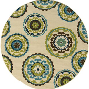 Brookins Beige/Green/Blue Indoor/Outdoor Area Rug
