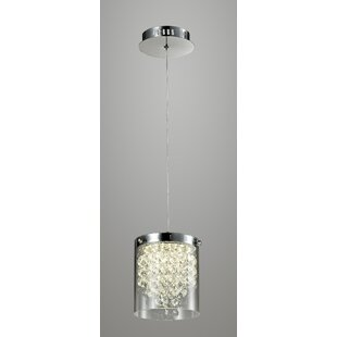 Bastien 1-Light LED Crystal Pendant by House of Hampton