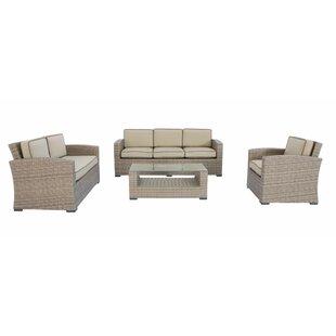 Candor 4 Piece Sofa Set with Cushions