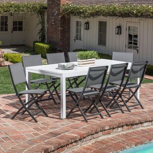 Latitude Run Frampton Cotterell 9 Piece Dining Set