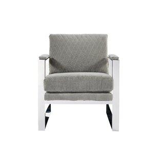 Orren Ellis Meggan Modern Stainless Steel Arm Chair