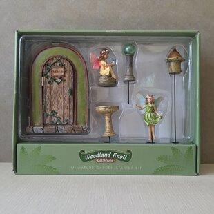 6 Piece Fairy Door Set by Marshall Home Garden