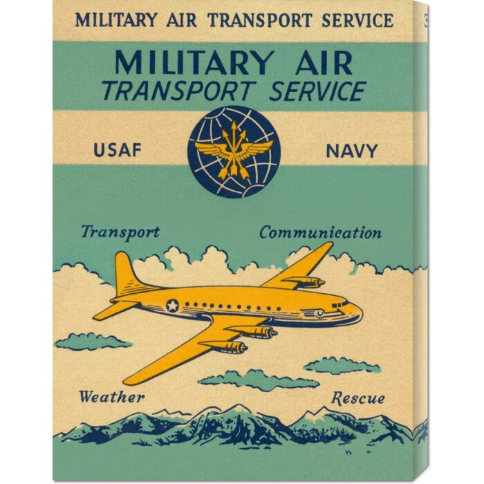 'Military Air Transport Service' by Retro Travel Vintage Advertisement on  Wrapped Canvas