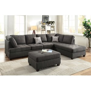Bobkona Kemen Reversible Sectional by Poundex