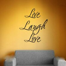 Thibaud Live Laugh Love Wall Decal