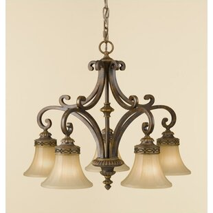 Fleur De Lis Living Linda 5-Light Shaded Chandelier