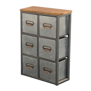 Looking for Short Galvanized 6 Drawer Storage Chest By Cheungs