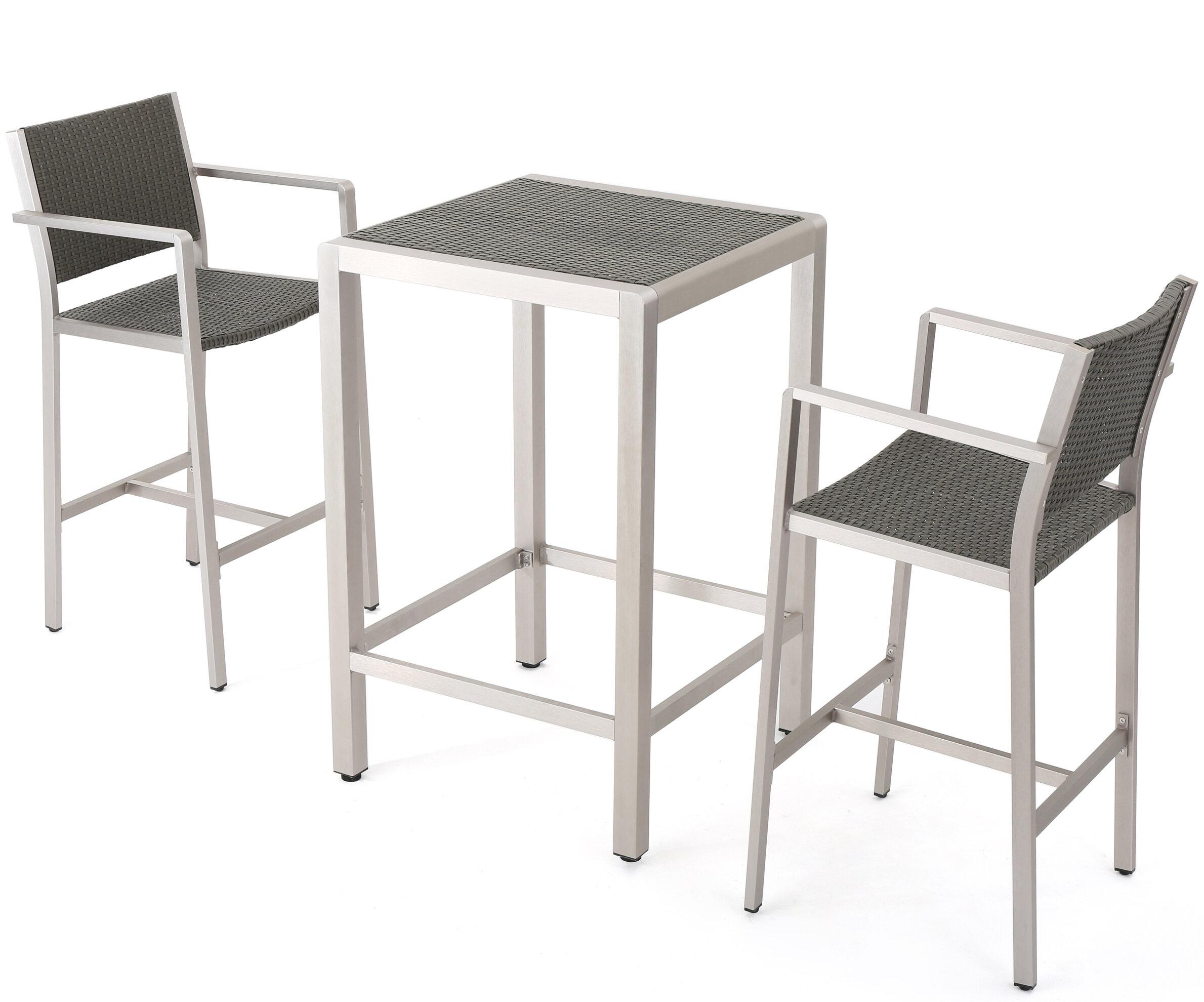 Swell Royalston 3 Piece Bar Height Dining Set Download Free Architecture Designs Intelgarnamadebymaigaardcom