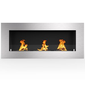 Aron Metal PRO Ventless Built in Recessed Wall Mounted Bio-Ethanol Fireplace by Orren Ellis
