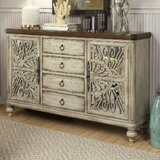 Dillen 60 Wide 4 Drawer Rubberwood Sideboard by Bungalow Rose