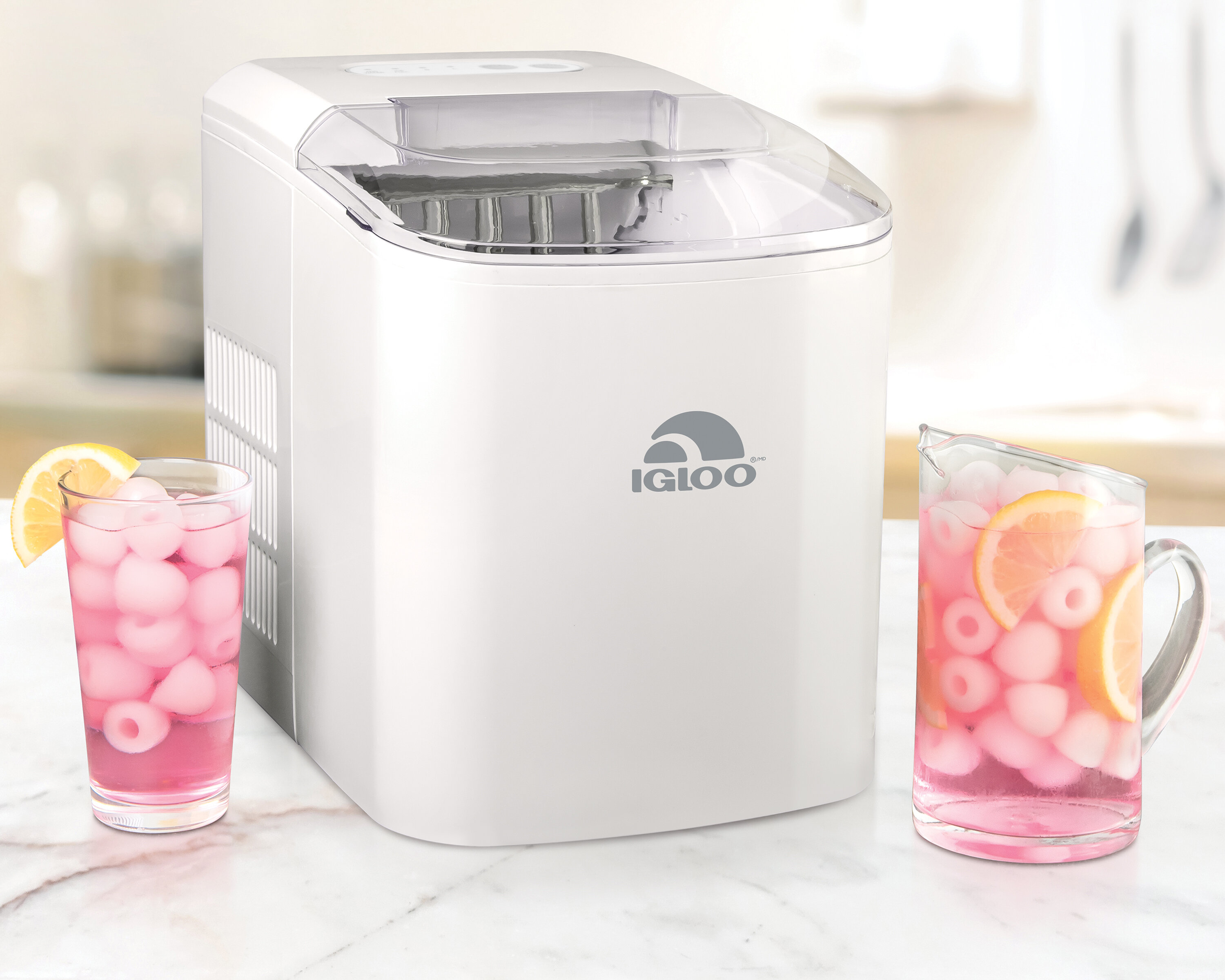 Igloo 26 Pound Automatic Portable Countertop Ice Maker Machine White Reviews Wayfair