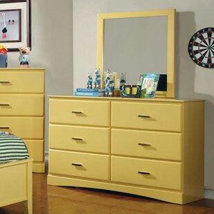 Segars 6 Drawer Double Dresser with Mirror