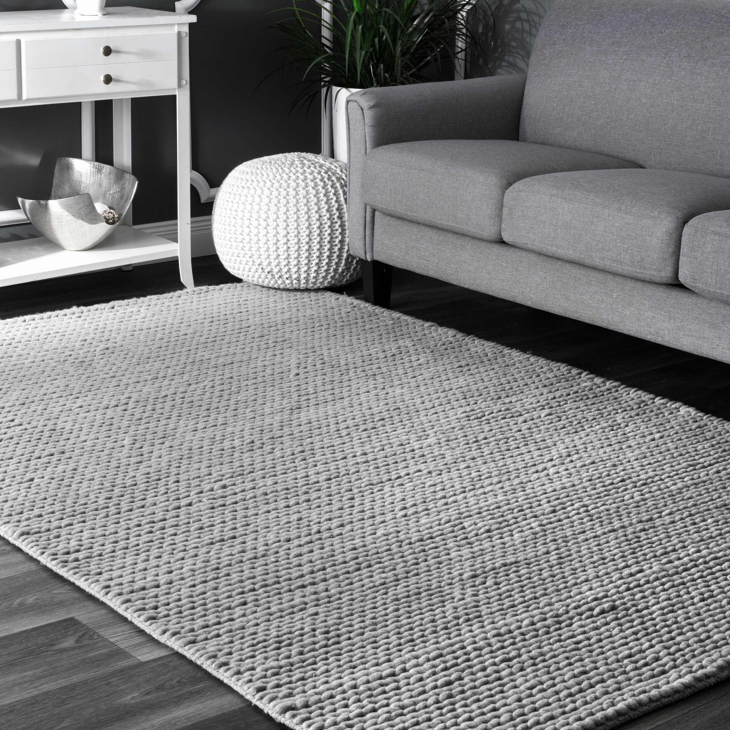 Picture of: Gray Living Room Rug