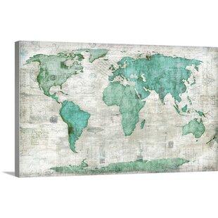 World map wall art world edward selkirk graphic art print gumiabroncs Gallery