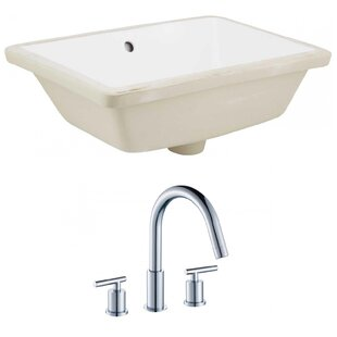 Royal Purple Bath Kitchen Ceramic Rectangular Undermount Bathroom Sink with Faucet and Overflow