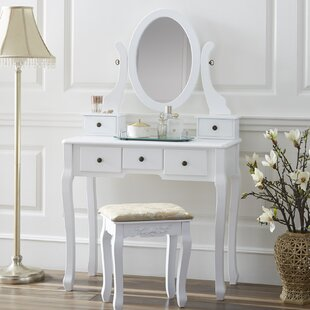 Darby Home Co Fonso Dressing Vanity Set with Mirror