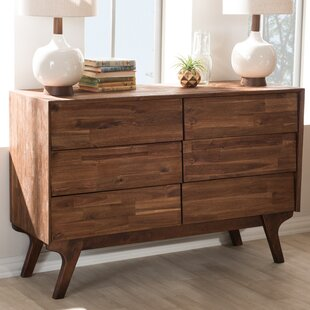 Union Rustic Tion Wood 6 Drawer Double Dresser Image