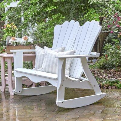 Annaliese Settee Rocking Bench Uwharrie Chair Finish: Polymer-Flamingo