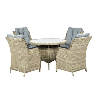 Swindon 4 Seater Dining Set With Cushions By Sol 72 Outdoor