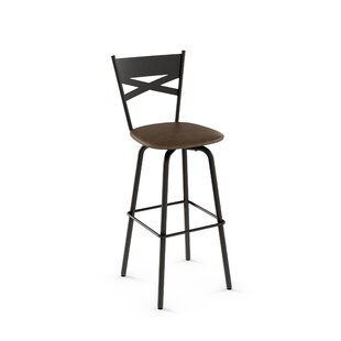 Deals Tommy 26.63 Swivel Bar Stool by Amisco Reviews (2019) & Buyer's Guide