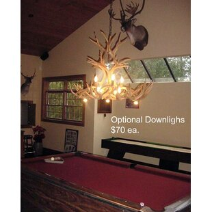 Attwood Antler Mule Deer Inverted Oblong 8-Light Chandelier by Loon Peak
